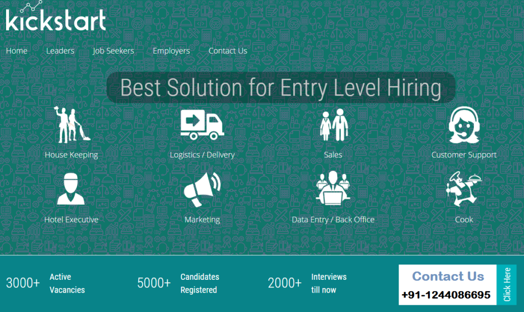 kickstart jobs - best solution for entry level hiring