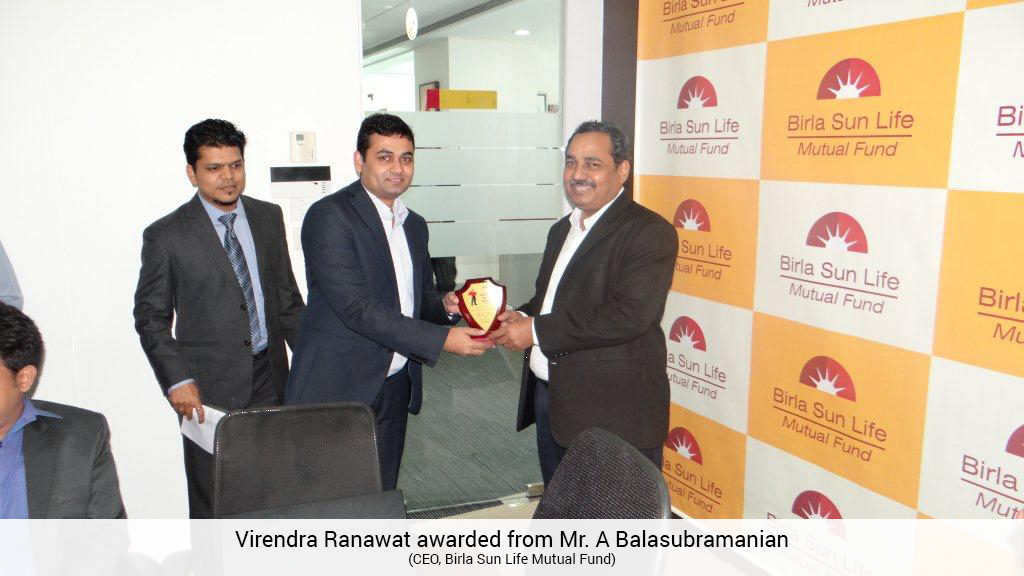 mysiponline - Virendra Ranawat awarded from Mr A Balasubramanian